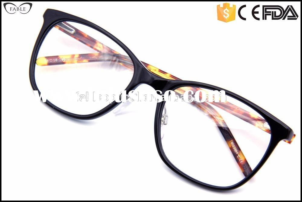 Factory Price cat eye leopard tips acetate 2015 best eyeglass frames