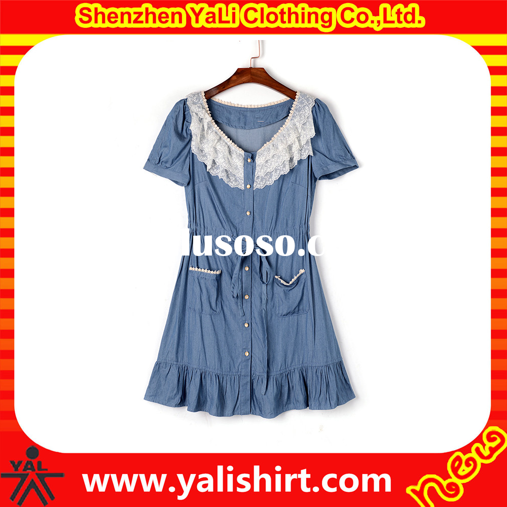 High quality fashion kids cotton frocks design for teen girls