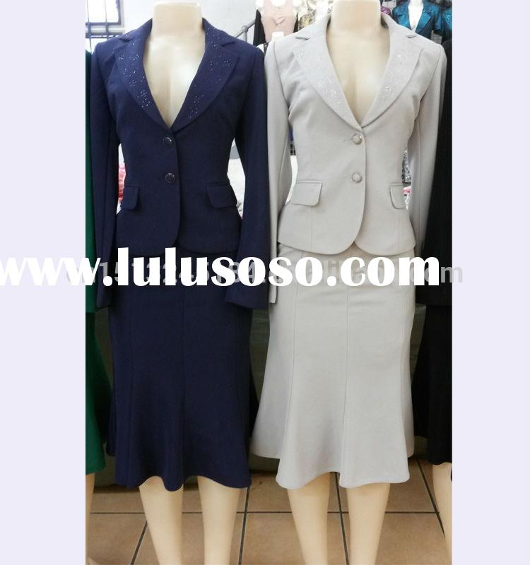 Hot sale Nigeria women office suits ,career suits for black women