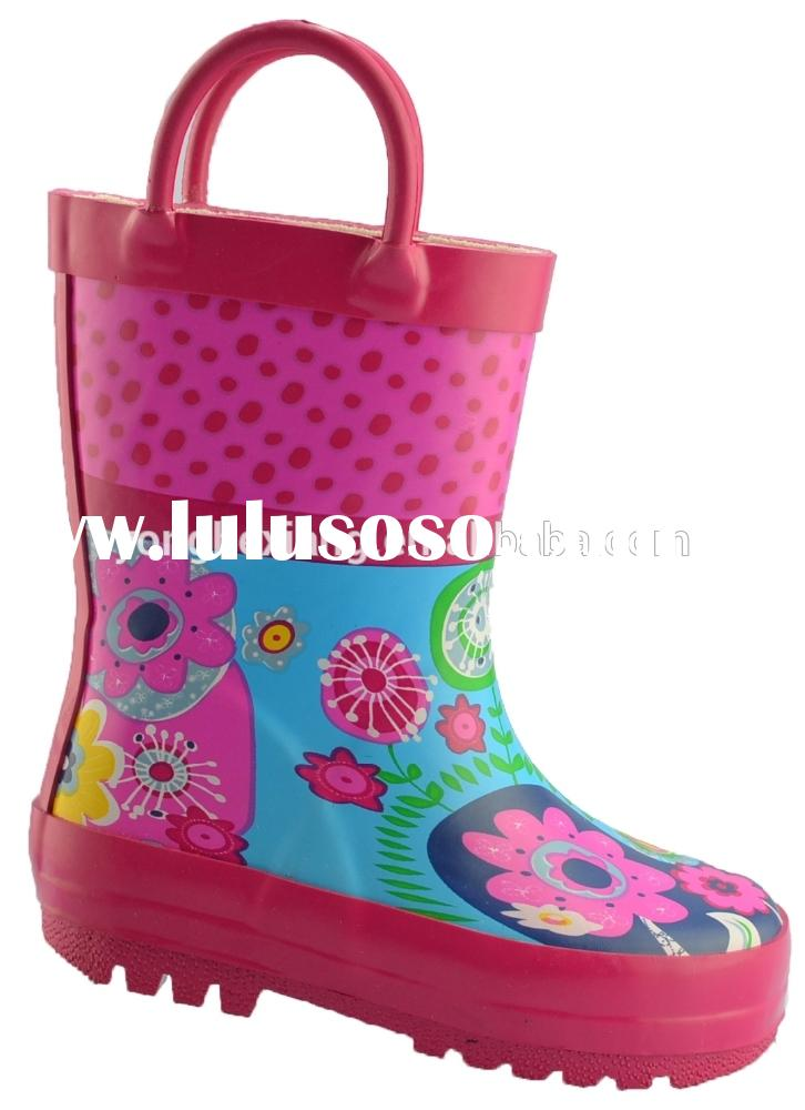 Hot sale cheap child rubber rain boot