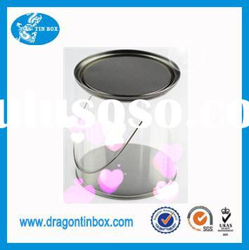 Alibaba China supplier PVC plastic round tin for candy chocolate packaging