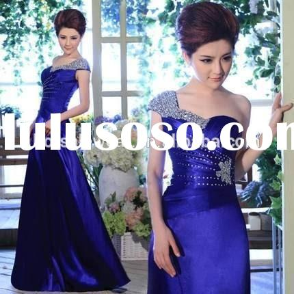Charming Latest Design One Shoulder Beaded Evening Gown DHED2002