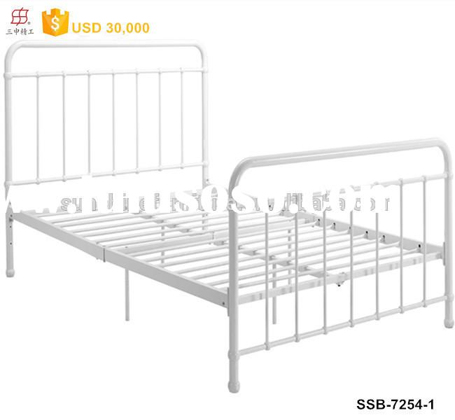 Modern Bedroom Furniture Knock-down European Style Twin/Queen/King Size Metal Bed Frame
