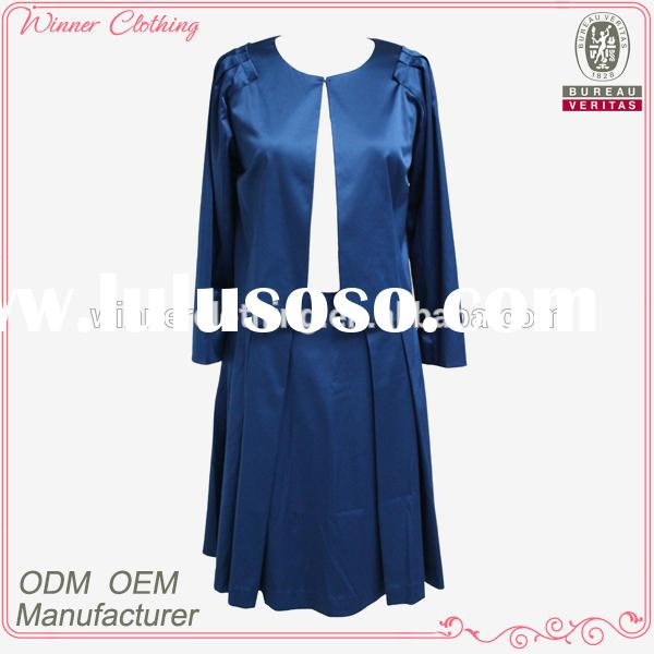New designs high quality best price slinky and elegant women church suits
