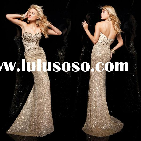 New Arrival Off-shoulder Beaded Sequin Long Latest Designs Evening Gowns