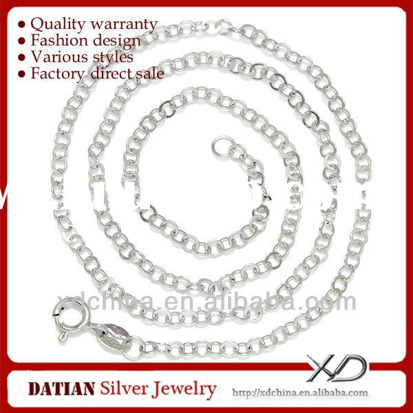 XD Y949 925 sterling silver circle chain necklace silver cross necklace for men
