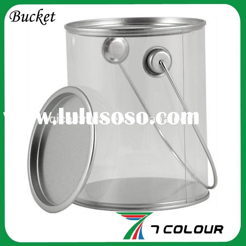 5 gallon hdpe paint bucket plastic pail with plastic lid for 1 gallon clear plastic paint cans