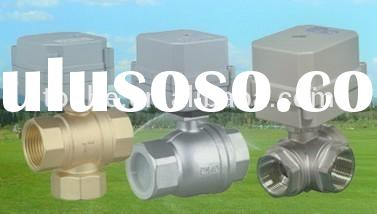 2-way & 3-way motorized power control water ball valve in brass and ss304 for HVAC Systems