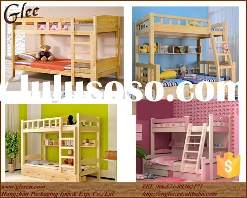 2015 China Hot Sale Kids Double Deck Bed Wooden Kids Bunk Bed for School Use or for Mother and Child