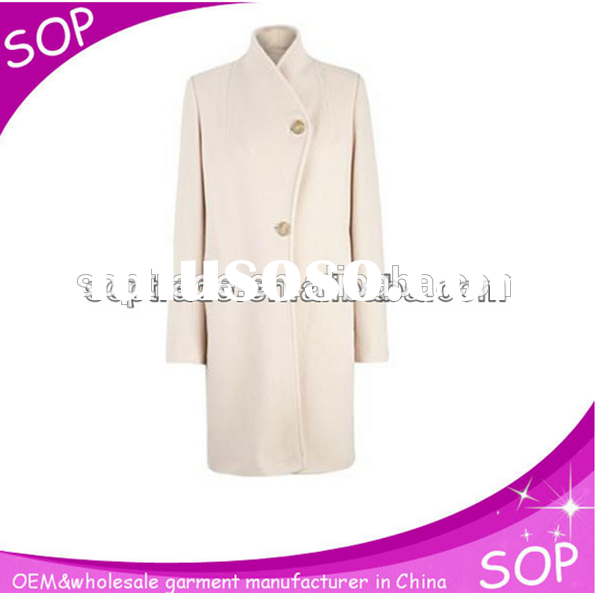 2105 new design hot sale high quality high neck fashion button full length for woman winter over coa
