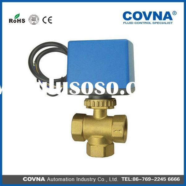 3 Way(A) Electric Ball Valve for automatic control, HVAC, solar heating