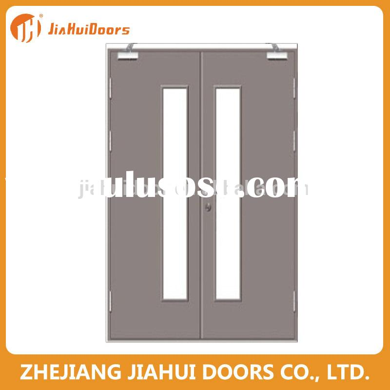 Fire Rated Steel Doors With Glass : Steel fire doors commercial for sale price china