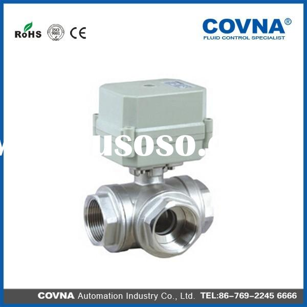 Mini 3-way motor actuated ball Valves for automatic control, HVAC, water treatment