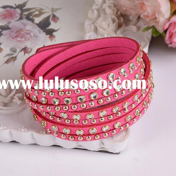 Wholesale Fashion Jewelry Custom Printed Handmade Braided Leather Bracelet For Women