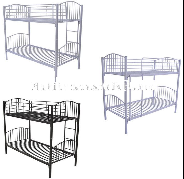 double deck iron bed used bedroom furniture for sale