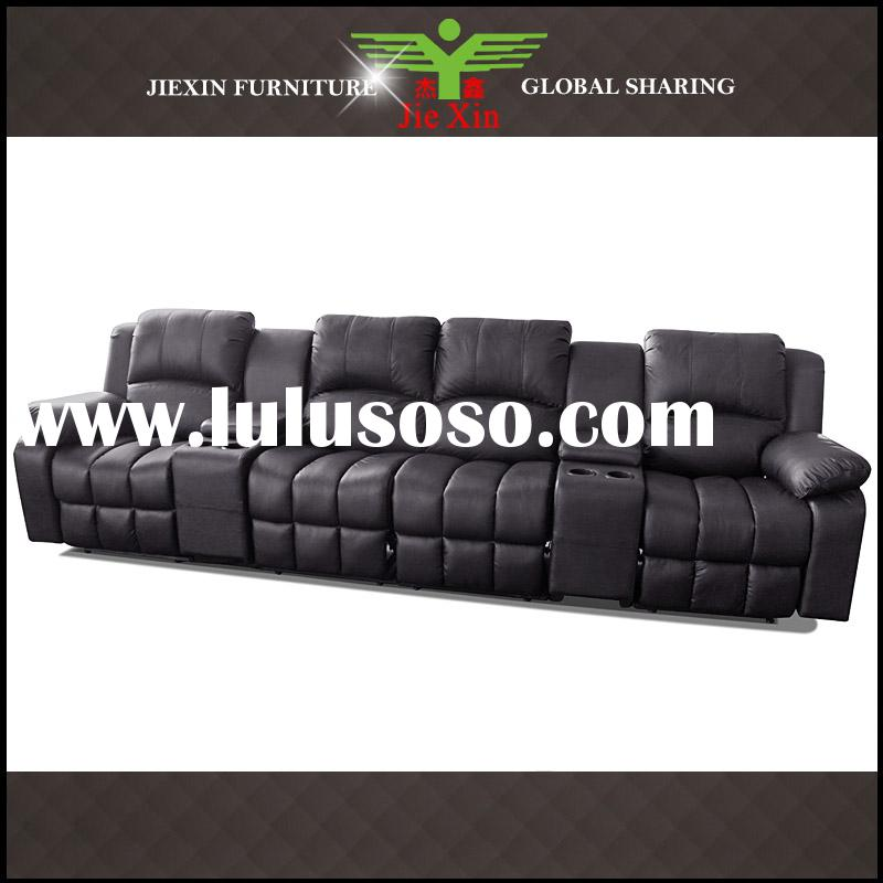 Recliner sofa Theater furniture with side wood box