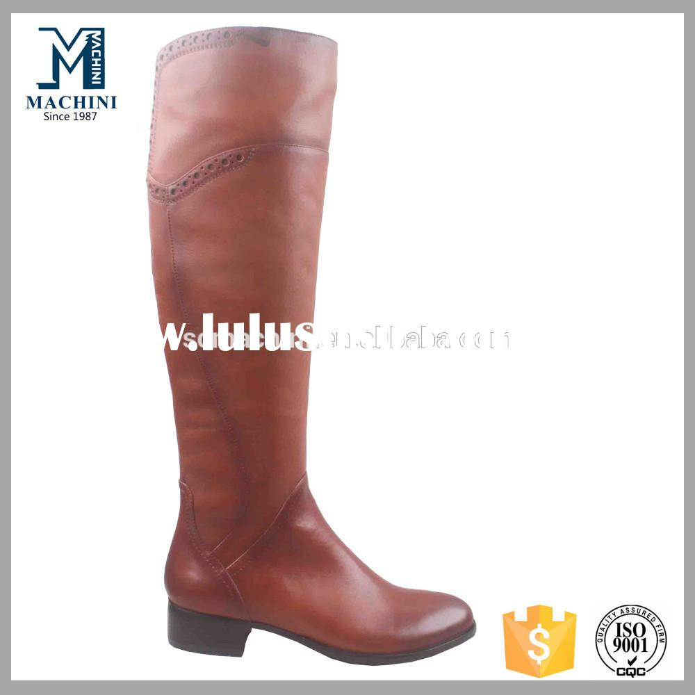 Fast delivery! low price real leather women over knee high heel boots