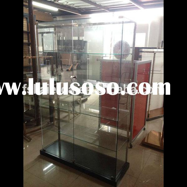 Frameless Glass Display Case/Glass Display Show Case/Metal Glass Display Case