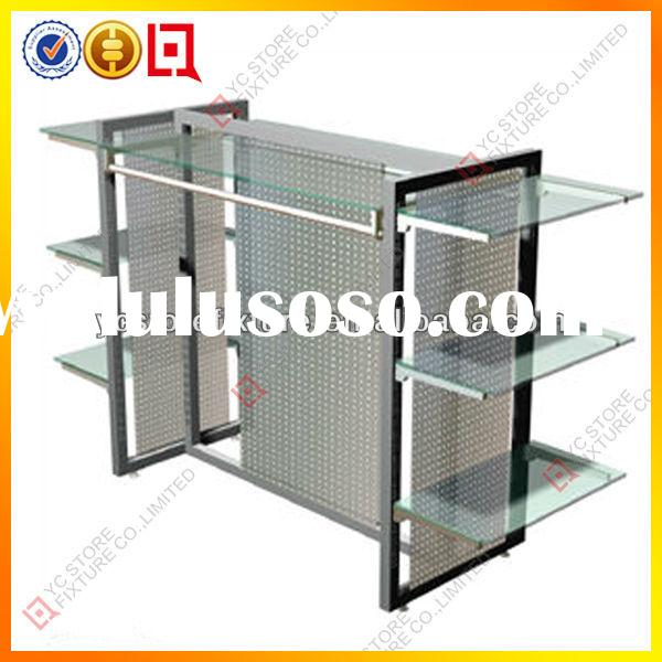 Metal clothing sale glass display case