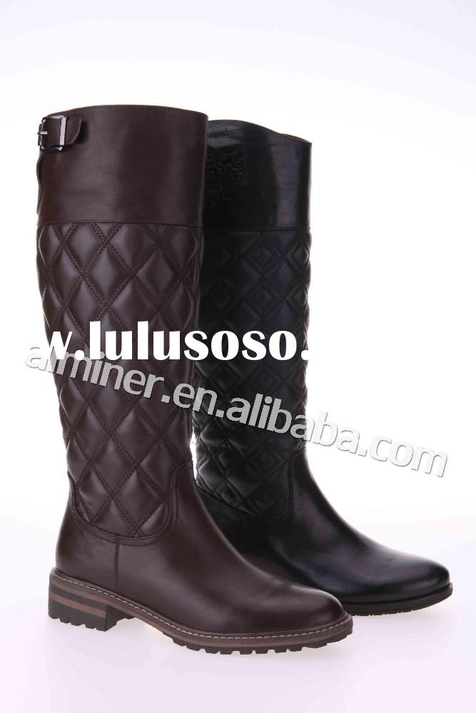 wholesale new design leather women boots knight knee high boots winter women boots