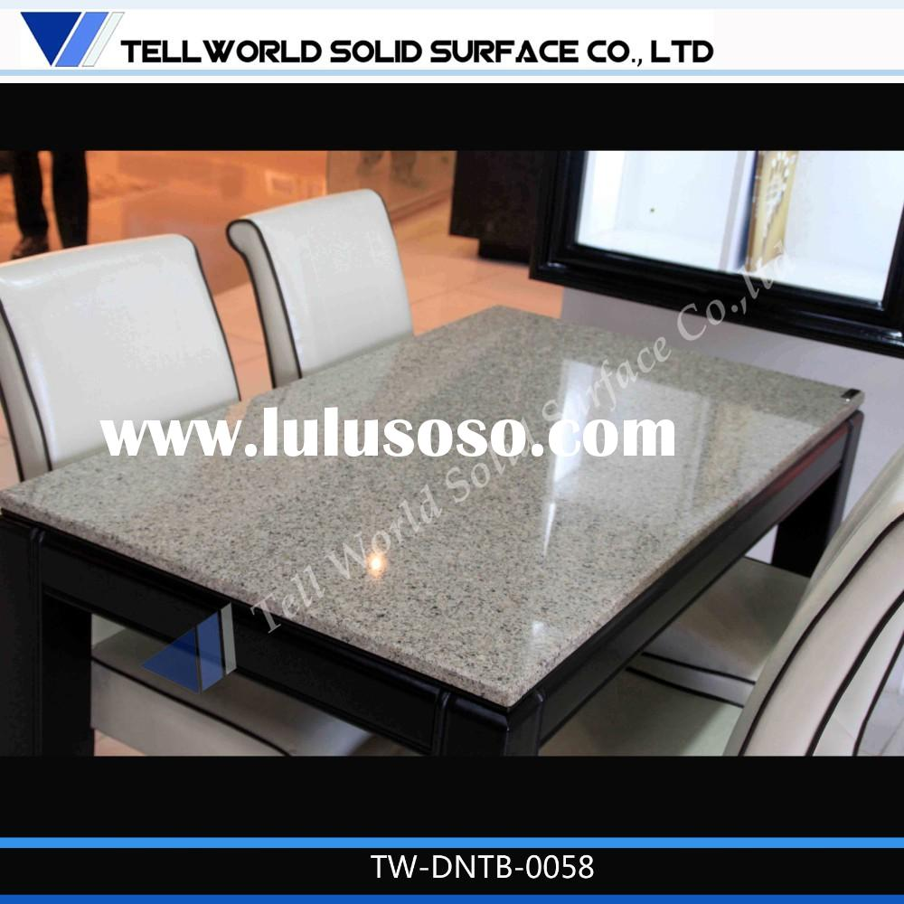 Cheap Restaurant Tables Chairs Quartz Dining Table Top