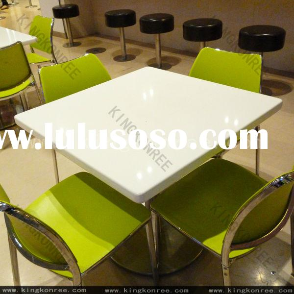 Marble living room table set/Artificial Marble stone top dining table