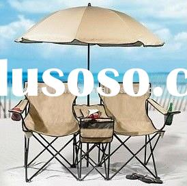2014 New Product for Sale Double Camping Chair with Umbrella