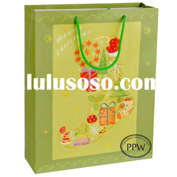 Cheap small colored paper gift bags with handles