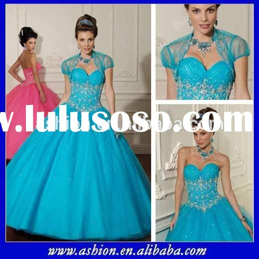 QD-023 Strapless sweetheart neckline ruched fitted bodice tulle ball gown skirt pretty princess dres