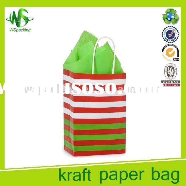 Wholesales promotional small gift package bags color paper bag