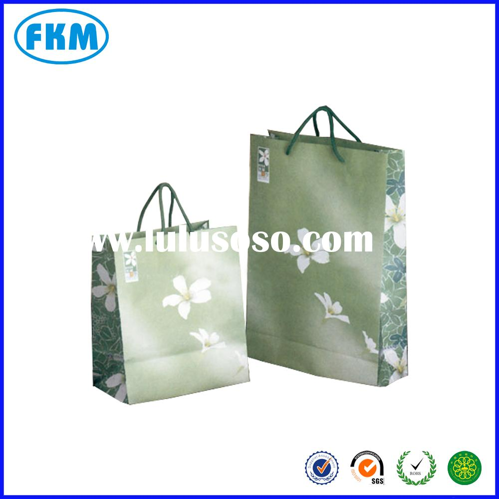 small colored paper bags