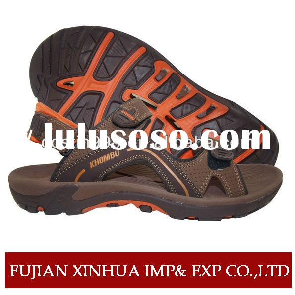 Classic italian men leather sandals and slippers