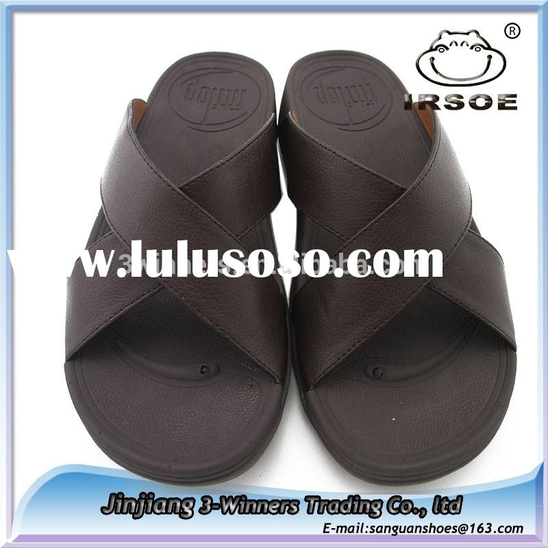 Design Eco-friendly material fashion style brand name slippers for men slippers leather, slippers it