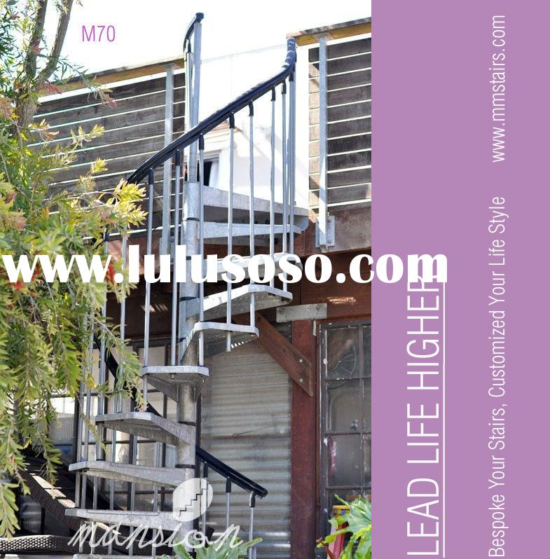 Stainless steel outdoor spiral staircase prices for sale - Exterior metal spiral staircase cost ...