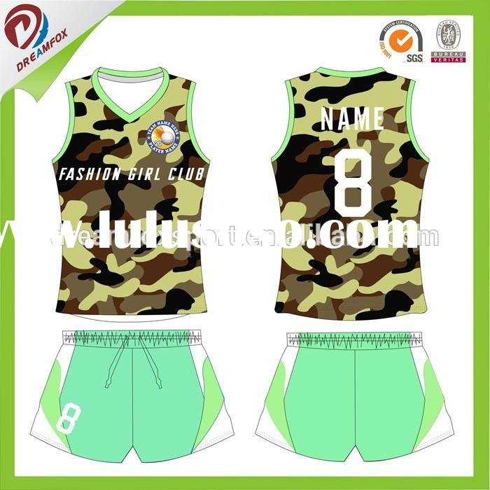 Sublimation volleyball jersey kits,cheap custom volleyball jersey