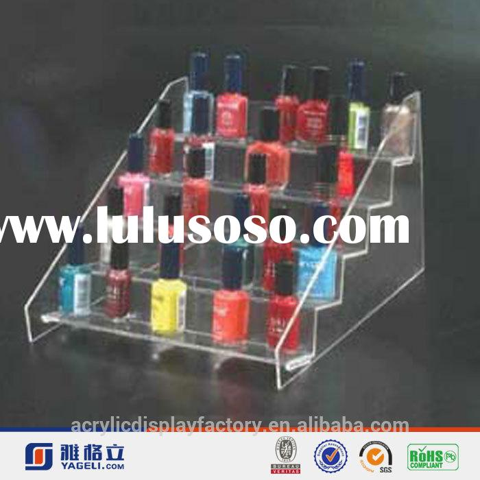 2014 New Design clear acrylic plastic makeup cosmetics racks storages organizer compartment drawer