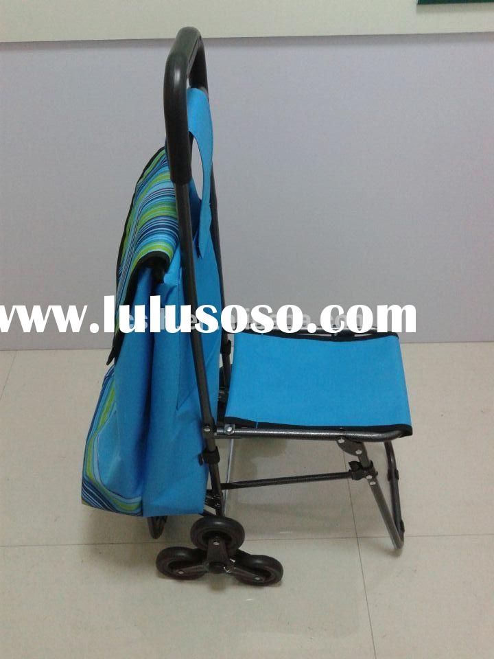 Colorful Convenient Folding Shopping Grocery Cart With Wheels