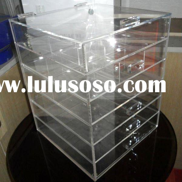 Factory customize clear acrylic plastic storage box drawer