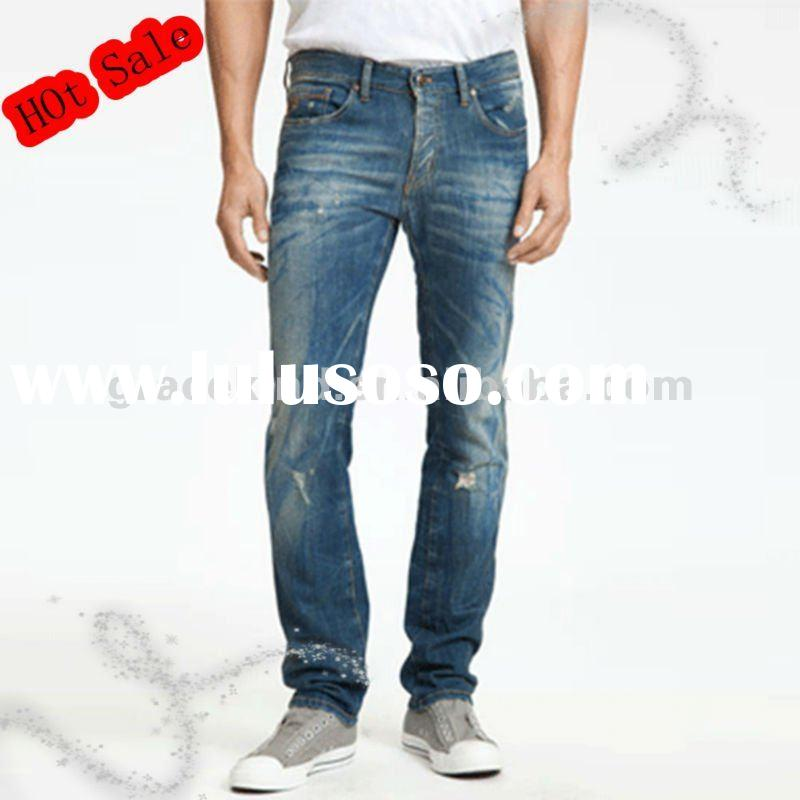 Fade To Blue Brand Cheap Best Skinny Jeans For Men Top Quality(GKK-021)
