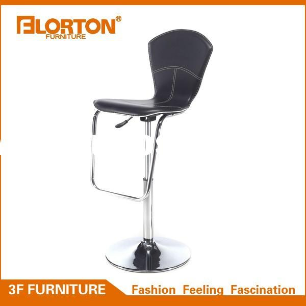 Modern Adjustable Synthetic Leather Swivel Bar Stool