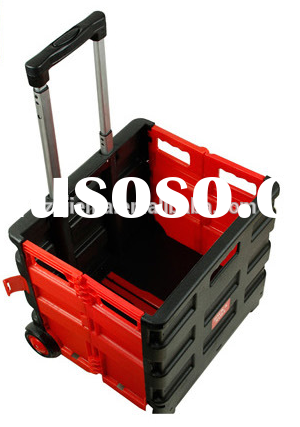 Portable Plastic Folding Shopping Cart with wheels