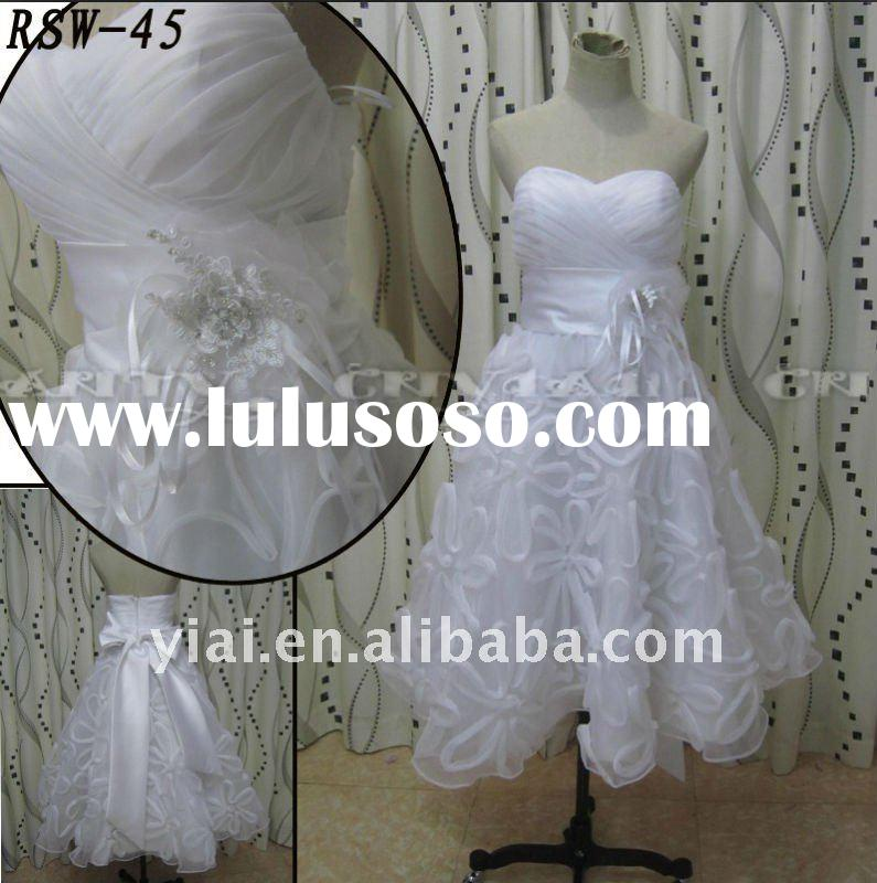 RSW45 Factory Outlet Lastest Beautiful Handmade Organza Flowers Big Bow Ribbon Sashes Real Excellent