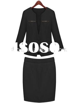 Wholesale Occupation Fitted Bodycon ladies office wear business formal Skirt Suit