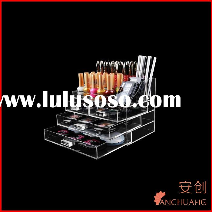 clear acrylic compartment storage box_4 drawers plastic storage box