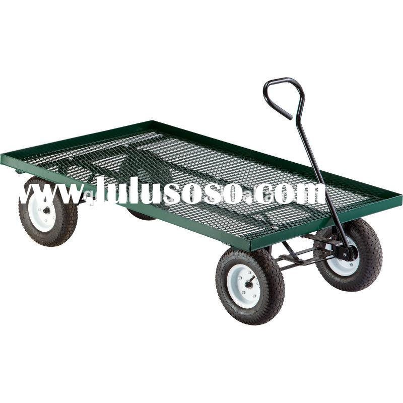 collapsible folding utility wagon garden cart with large beach tires