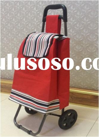 colorful personal portable folding metal shopping cart with wheels