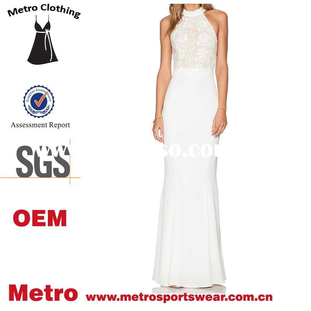 Latest hot sale long maxi dress design for women elegant Back Halter