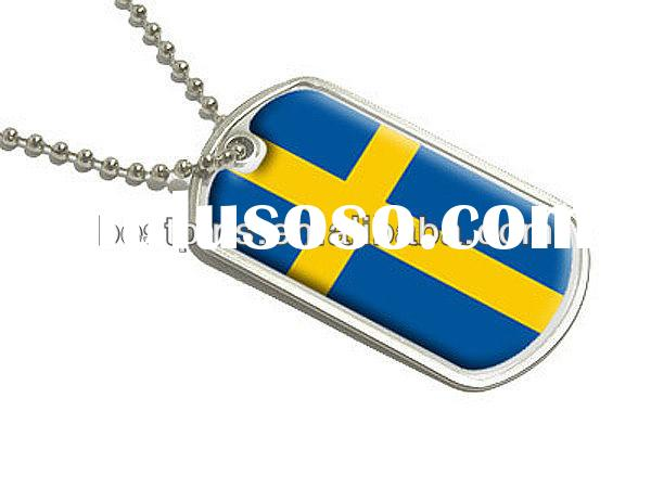 engraved dog tags for men National flag dog tag for national day with ball chain fashionable dog tag