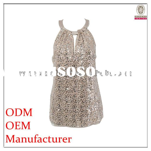ladies latest fashion formal beaded tops