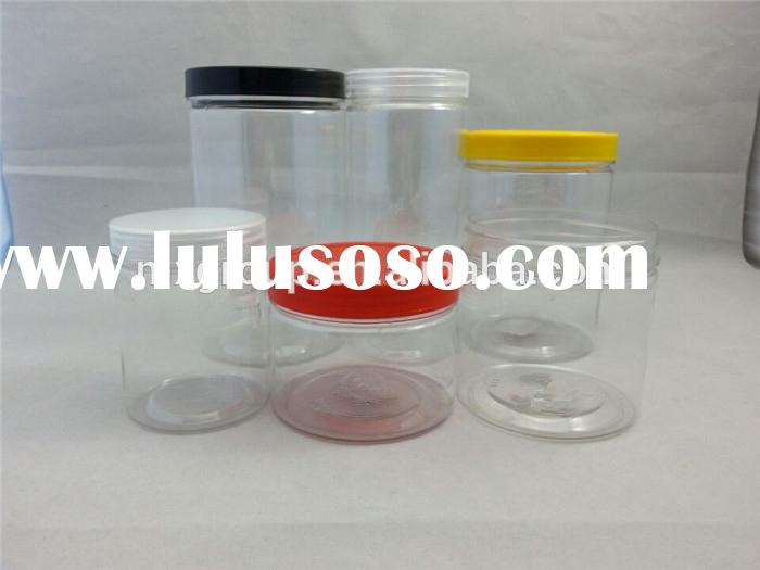 Cheap price clear plastic jars and top screw lid for food,High quality small PET jars made in China